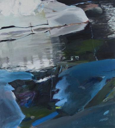 12.5.15 2015 100 x 90 cm Öl / Leinwand