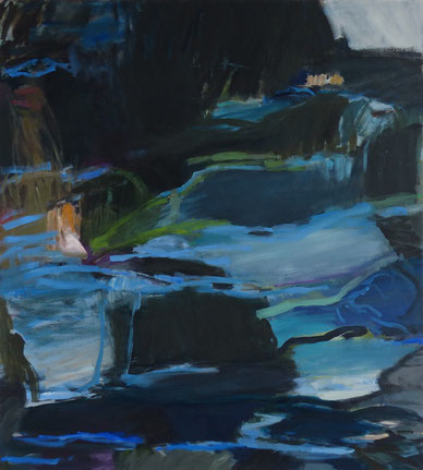 blaues Licht 2015 100 x 90 cm Öl / Leinwand