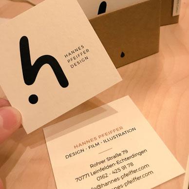 Neue Visitenkarten von Hannes Pfeiffer Design
