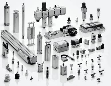 pistones, válvulas, acoples, neumática, sistemas neumático.