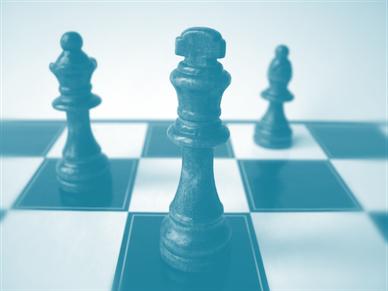 Schachfiguren, Symbol für Strategie, Heuristik