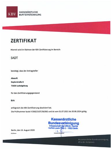Praxissoftware Praxis Software Praxisprogramm Praxis Programm Software für Praxis Arztsoftware PVS Zertifizierung SADT