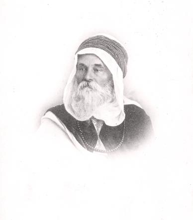 Adolf H. Neufeldt in Arabischer Tracht im Algerischen Wüstenort Biskra, 1912