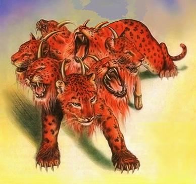 Les bêtes avec 7 têtes et 10 cornes représentent le pouvoir politique assuré par l'ensemble des nations et gouvernements humains ainsi que leurs accords et organisations du temps de la fin. Le dragon est liée à ces bêtes et leur ressemble.