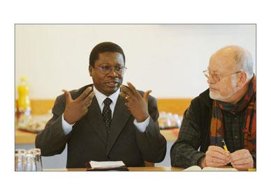 Etienne Bazié (links) und Harro Lange (rechts)