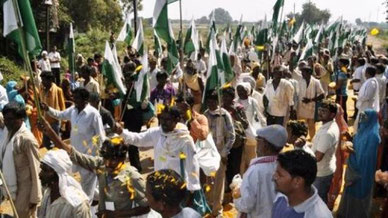 Indiens kasteløse demonstrerer for retfærdighed i hovedstaden New Delhi, oktober 2012