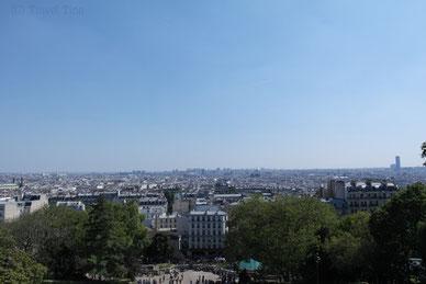 Toller Ausblick auf Paris von Montmatre.