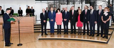 Vereidigung der Staatsminister des Freistaates Sachsen im Sächsischen Landtag vor der Regierungserklärung