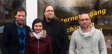 Die Jenaer Grünen mit Christian Seidler von der Bildungslücke e.V.