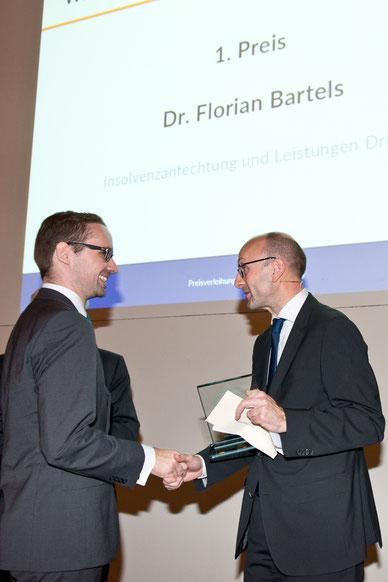 Dr. Florian Bartels (l, 1. Preis), Prof. Dr. Lucas F. Flöther