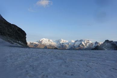 Hochtour, Obergabelhorn, Normalweg, Südwand, Abstieg, Rothornhütte, Trifgletscher, Monterosa