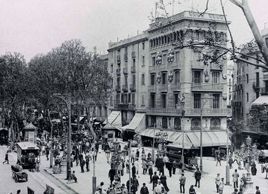 Первые туристы Барселоны