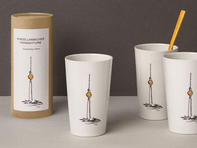 Berlin, Souvenir, Becher, Teller, Porzellan
