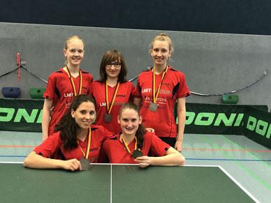 Tischtennis-Mädchen: Mannschaft des Jahres