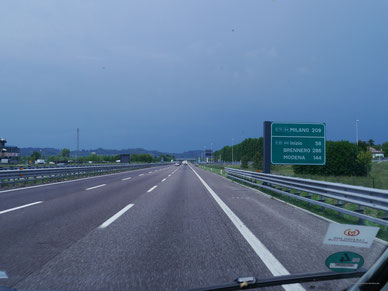 Wieder zurück zum Gardasee - am Sonntag bei leerer Autobahn