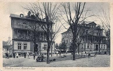 Kalmenhof in Idstein: Knaben und Mädchenhaus (ca. 1925)
