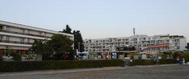 Il villaggio visto dalla spiaggia