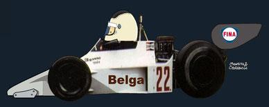 Bernard de Dryver by Muneta & Cerracín - Team Tissot Ensign Ensign N177 Ford Cosworth