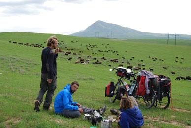 voyage à vélo au kazakhstan, bike touring