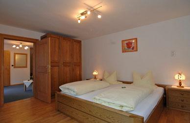 Schlafzimmer  im Apartment Fischbach