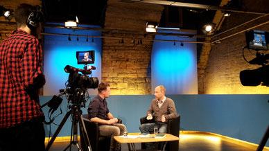 Plauderei im Wormser TV-Studio