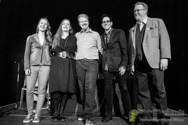 v.l. Sophie, Luci van Org, Christian Krumm, Andy Brings, Eusebius van den Boom