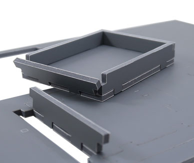 Folded space evacore material inserts organizers