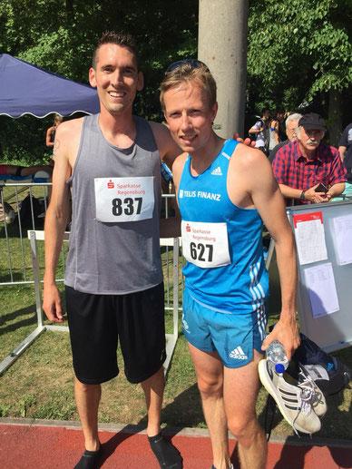 Andreas Vojta mit Florian Orth nach dem heutigen Rennen (Foto zVg)