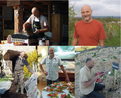 Bruno Masson, maraicher permaculteur du jardin bio des Alôsnys