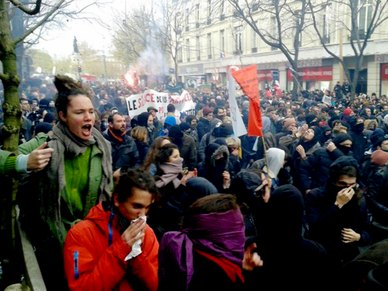 Venstrefløjsdemo mod COP21 i Paris, d. 29. nov. 2015