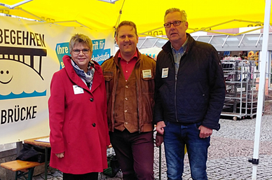 MdL Helga Lerch, Michael J. Schwarz und Hasso Mansfeld