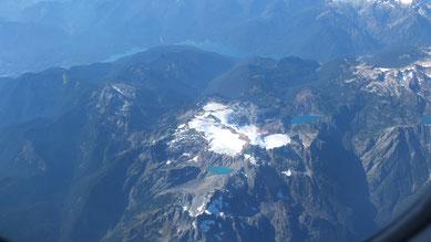 Flug über die Rocky Mountains