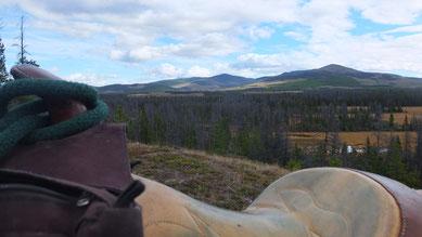 Pause auf einem Hügel, mit herrlichem Blick auf die Landschaft