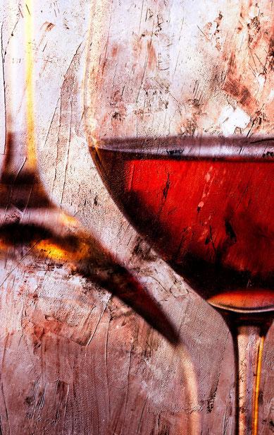 Weingläser 11 auf Leinwand