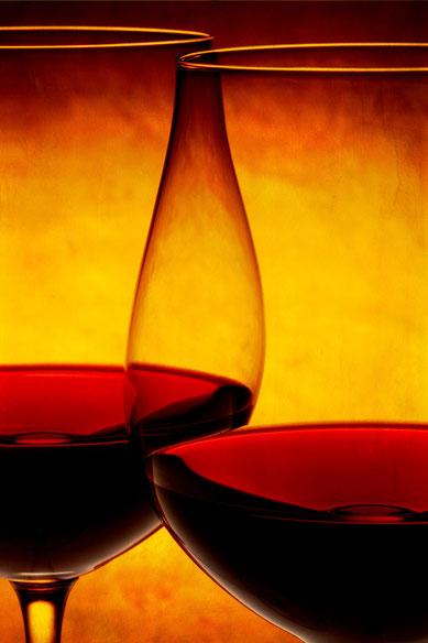 Weinspiegel auf Leinwand