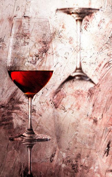 Weingläser 09 auf Leinwand