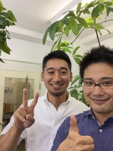 元々同じ会社の松井さんと自撮りするガーデンドクター柴ちゃん。久しぶりですが、超楽しかった!!