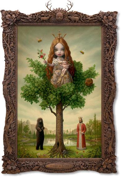 「The Tree Show」での代表作「The Tree of Life(#63)。ちなみにマーク・ライデンは作品名以外にナンバリング作業をしているのが特徴である。ナンバリング作業を始めたのは2014年の夏頃からで、制作年順とはあまり関係ないようである。