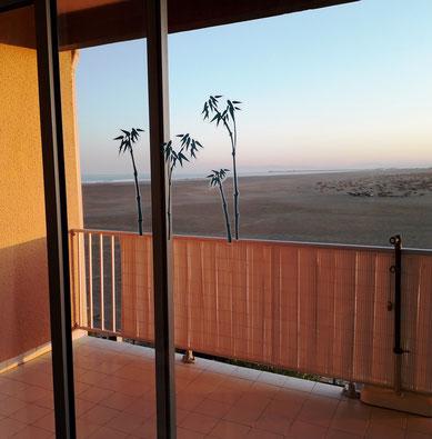Ferienwohnung in Gruissan Les Ayguades - Sicht vom Wohn-/Essbereich