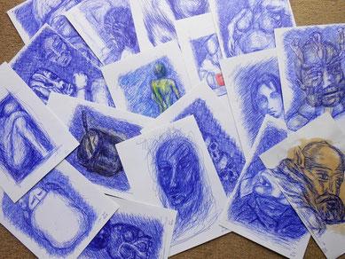 stylo bille bleu bic bristol format A4