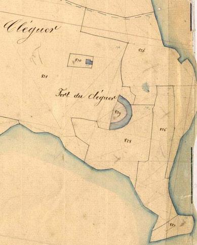 Détail du cadastre de 1846 (coll AD29)
