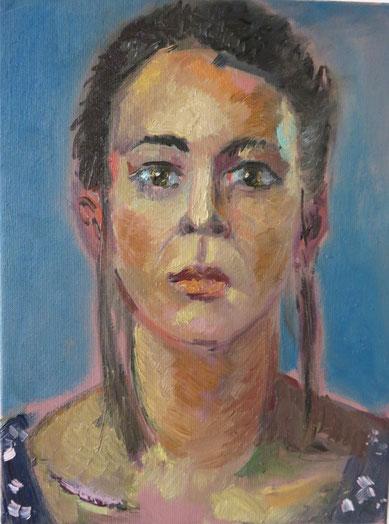 Susanne, 30cm x 40cm, Öl auf Leinwand, 2016