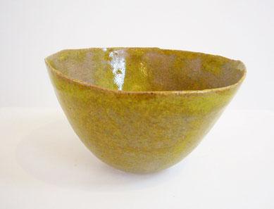Bol #9 (vert mousse) /  H6.5xØ11.5cm / ceramic(grès), glaze / sold