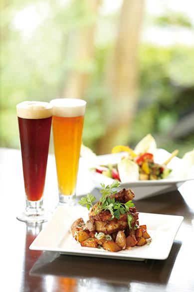 ランチはできたてのビールと合うイタリアンのコースを『福生のビール小屋』でお召し上がりください。