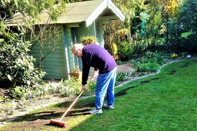 Rasensubstrat, Rasenreparatur, Sanierung
