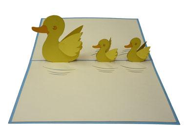 Carte Petits canards