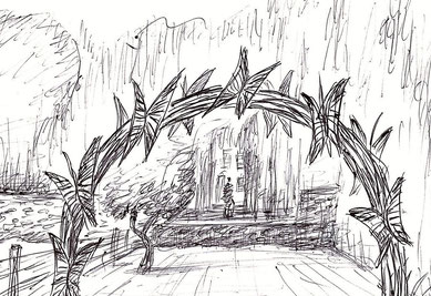 """"""" L'arche des papillons """", dessin - Projet artistique de Roman Gorski avec les enfants de l'association """"La Source"""""""