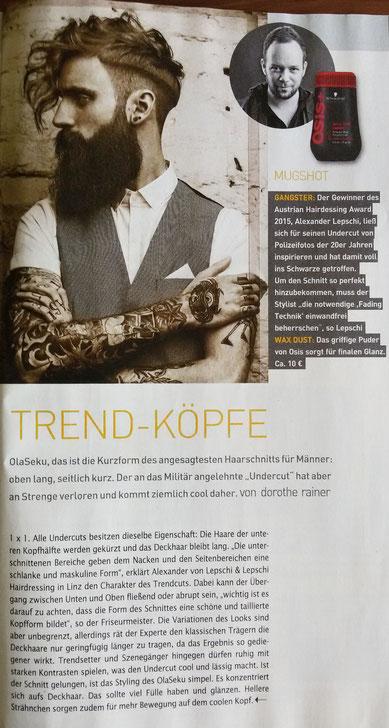 Bericht vom Kurier-Freizeit vom 16.05.2015
