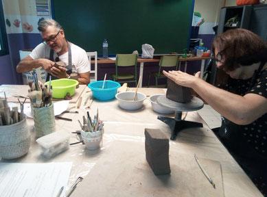 clase de ceramica japonesa  orimari