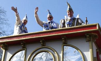 von links: Markus Roeb, Christian Eisenbraun, Prinz Christoph I.